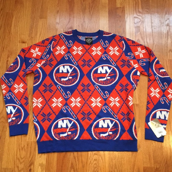 NY Islanders Christmas sweater NWT
